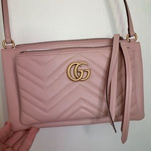 Gucci Marmont GG matelasse with detachable pouch